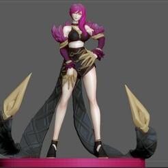 1.jpg Télécharger fichier STL EVELYNN SEXY STATUE LOL LEAGUE OF LEGENDS GAME FEMALE CHARACTER GIRL 3D PRINT • Design pour impression 3D, figuremasteracademy