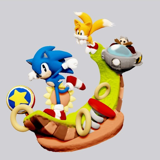 Download 3d Printer Model Sonic The Hedgehog Tails Statue For 3d Print Cults