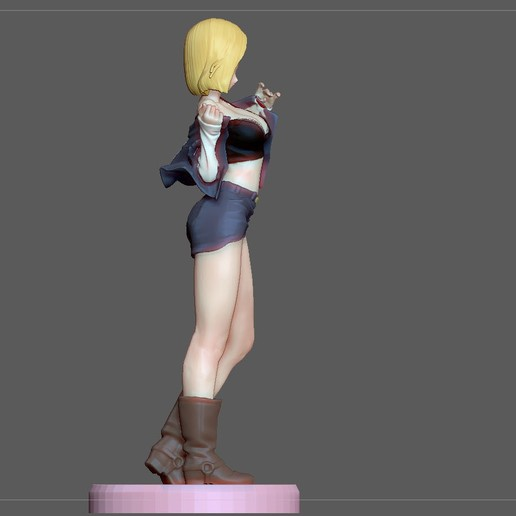 5.jpg Download STL file ANDROID 18 SEXY VERSION DRAGONBALL ANIME CHARACTER android18 • Model to 3D print, figuremasteracademy