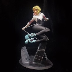 0.jpg Download STL file GWEN STACY INTO THE SPIDERVERSE FOR 3D PRINT • 3D printing design, figuremasteracademy
