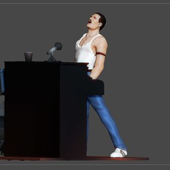1.jpg Télécharger fichier STL STATUE DE FREDDIE MERCURY QUEEN VERSION PIANO • Design pour impression 3D, figuremasteracademy