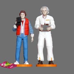 q1.jpg Descargar archivo OBJ MARTY MCFLY DOC EMITE EL MARRÓN DE VUELTA A LA MINIATURA DE LA FIGURA DEL FUTURO • Plan de la impresora 3D, figuremasteracademy