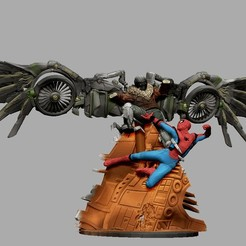 Download STL file VULTURE SPIDERMAN STATUE FROM HOMECOMING MARVEL 3D PRINT • 3D printing object, figuremasteracademy