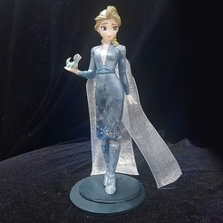 Download 3D printing templates ELSA BLUE DRESS MODEL FOR 3D PRINT FROZEN, figuremasteracademy