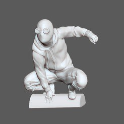 Download STL file SPIDERMAN HOMEMADE SUIT MODEL HOMECOMING FARFROMHOME STATUE 3D PRINT, figuremasteracademy