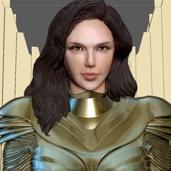 3.jpg Télécharger fichier STL WONDERWOMAN 1984 GOLDEN ARMOR STATUE DC MOVIE GAL GADOT 3D print model • Design imprimable en 3D, figuremasteracademy