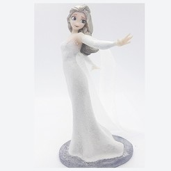 Download 3D printer files ELSA WHITE DRESS FIGURE!, figuremasteracademy