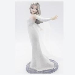 2.jpg Download STL file ELSA WHITE DRESS FIGURE! • 3D printing model, figuremasteracademy