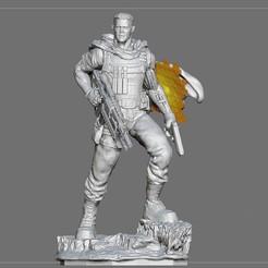 15.jpg Download OBJ file CABLE DEADPOOL JOSH BROLIN MOVIE STATUE FOR RESIN PRINTING MCU • 3D print object, figuremasteracademy