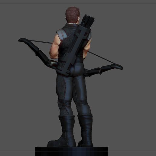 7.jpg Descargar archivo STL FIGURA DE LA ESTATUA DE JEREMY DE HAWKEYE AVENGERS MCU MARVEL • Objeto imprimible en 3D, figuremasteracademy
