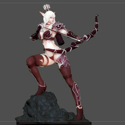 41.jpg Télécharger fichier OBJ SYLVANAS WINDRUNNER warcraft wow female dark elf SEXY girl archer 3D print model • Plan pour impression 3D, figuremasteracademy