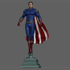 1.jpg Download STL file HOMELANDER STATUE THE BOYS AMAZON 3D PRINT • Design to 3D print, figuremasteracademy