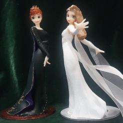 Download 3D printer designs ELSA ANNA FROZEN2 PACK 3D print model, figuremasteracademy