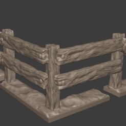Screenshot (68).png Download STL file wooden fence pack • Model to 3D print, PandaExcess