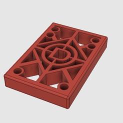 plain_riser_v2.png Télécharger fichier STL gratuit Elévateur de longboard d'un demi-pouce • Plan à imprimer en 3D, dunc