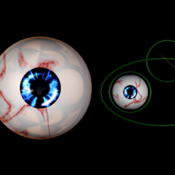 Download free STL file Free rigged eyes of the lost sight, NadavRock