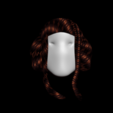 Download free 3D printer designs Free model of gorgeous woman's hair, NadavRock