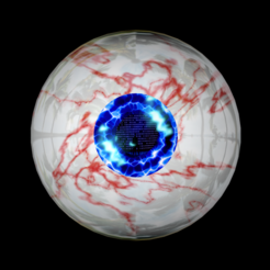 Download free 3D printer designs Free model of a rigged stunning eyeball, NadavRock