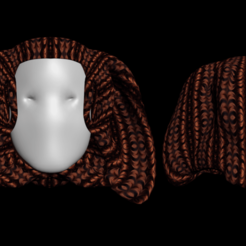 Download free 3D printing designs Free pharaoh hair, NadavRock