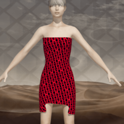 Download STL file Woman in eternal dress  • Design to 3D print, NadavRock