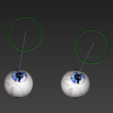 Download free STL files Free model of textured rigged eyes, NadavRock