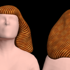 Download free 3D printer designs Free 3ds hair of a tender goddess, NadavRock