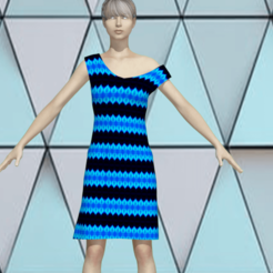 1.png Download STL file Model of a woman in a cute lovely dress • 3D printer design, NadavRock