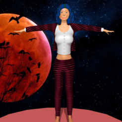 Download 3D printer files woman in suit of the final night, NadavRock