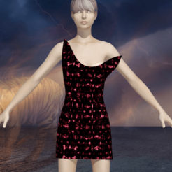 1.png Download STL file Woman in a fun night dress • 3D printable object, NadavRock