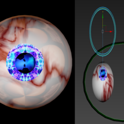 Download free STL file Free rigged eyeballs of the lost world, NadavRock
