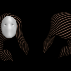 Download free STL files Free 3d woman's hair, NadavRock