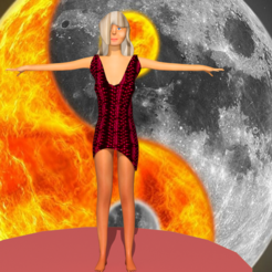 1.png Download STL file woman in cute dress • 3D print object, NadavRock