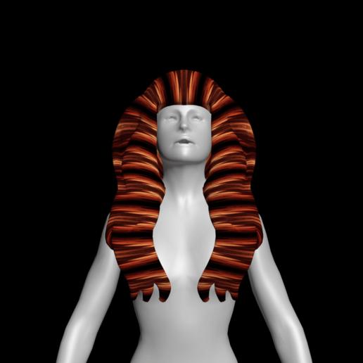 2.png Download free STL file Free wonderful woman's hair • Model to 3D print, NadavRock