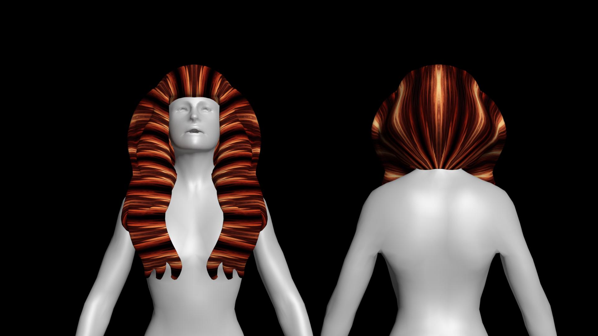 1.png Download free STL file Free wonderful woman's hair • Model to 3D print, NadavRock