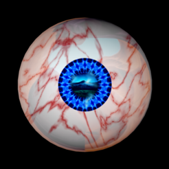 Download free 3D model Free rigged eyes of true sight, NadavRock