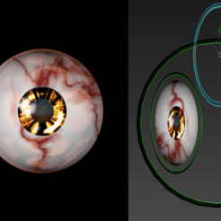 Download free STL Free rigged 3d eyes of a a lost dream, NadavRock