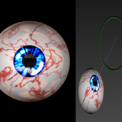 Download free 3D model Free 3ds rigged eyesballs, NadavRock