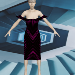 Download STL file Dress of a seductive woman • Design to 3D print, NadavRock