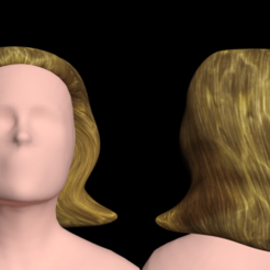 Download free STL Free model of woman's hair of the dark desert, NadavRock