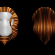 Download free 3D printing templates Free model of woman's hair, NadavRock