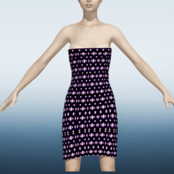 1.png Download STL file Model of a woman in a dress of starlight • 3D printing object, NadavRock