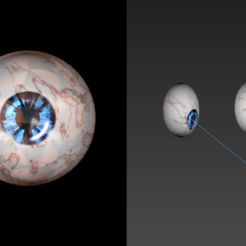 Download free 3D printer model Free rigged eyes of damnation, NadavRock