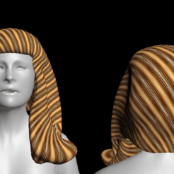 Download free 3D printer templates Free fantastic woman's hair, NadavRock