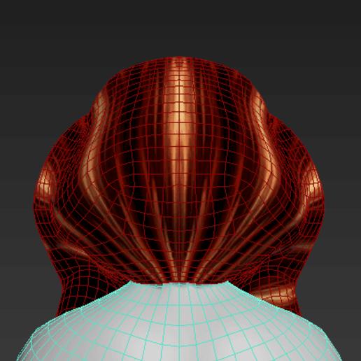 4.png Download free STL file Free wonderful woman's hair • Model to 3D print, NadavRock