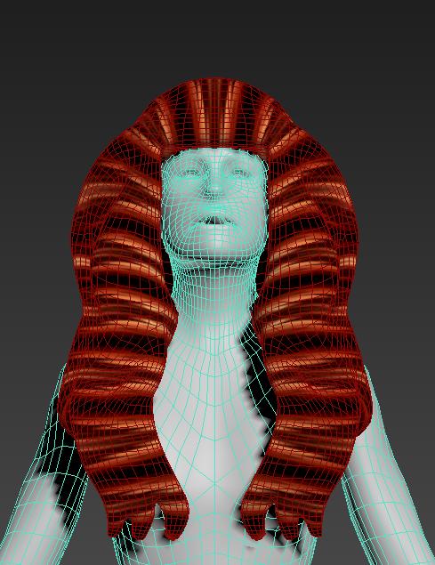 5.png Download free STL file Free wonderful woman's hair • Model to 3D print, NadavRock