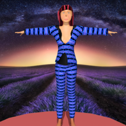 Download STL file magical woman in suit • 3D printable design, NadavRock