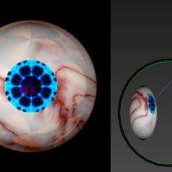 Download free STL files Free model of rigged eyeballs with a stunning texture, NadavRock