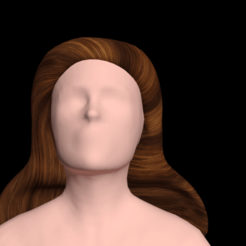 Download free STL files Free worldly woman's hair, NadavRock