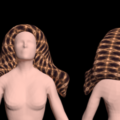 1.png Download free STL file Free beautiful 3d woman's hair • 3D printer design, NadavRock