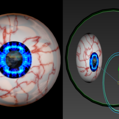 Download free 3D printing templates Free model of stunning rigged 3d eyeballs, NadavRock